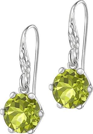 Dower & Hall 10mm Peridot Claw-Set Twinkle Drop Earrings