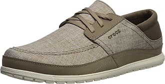 Crocs Mens Santa Cruz Playa Lace Sneaker, Khaki/Stucco, 12 UK