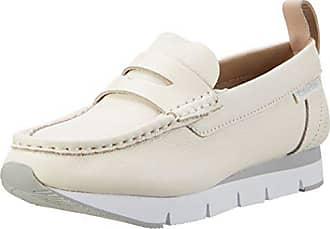 Klein Off Jeans Calvin Blanc Sonora EU Calf Mocassins Femme 40 Pebble White ORCngqxR