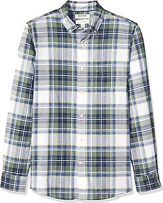 vestibilit/à slim Goodthreads Marchio camicia da uomo a maniche corte in tessuto madras