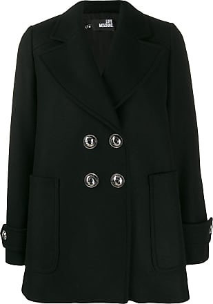 Love Moschino embellished button double-breasted jacket - Preto