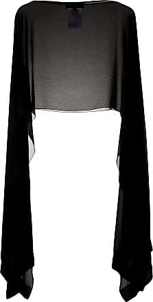 Talbot Runhof Poncho semi trasparente - Di colore nero