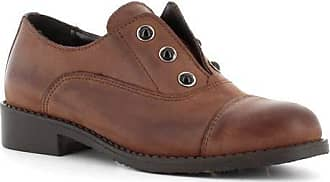 Generico Made in Italy Leather Shoes with Elastic - Brown Brown Size: 7 UK