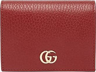 Gucci GG Marmont Grained-leather Wallet - Womens - Red