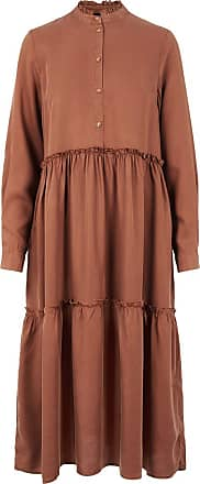Pieces Loose fit lyocell Midi dress - Mocha Bisque