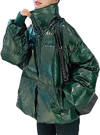 VITryst Fashion Women Autumn Packable Down Quilted Jacket Lightweight Puffer Coat,Green,X-Small