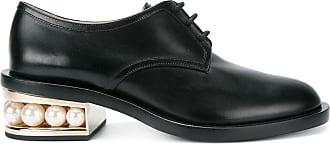 Nicholas Kirkwood Casati Derby-Schuhe mit Kunstperlen - Schwarz