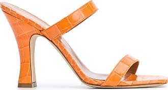 PARIS TEXAS Fashion Woman PX214XCAG22831 Orange Leather Sandals | Spring Summer 20