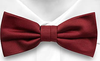 98330b04c555 Notch Pre tied bow tie - Woven Jacquard silk in solid dark red