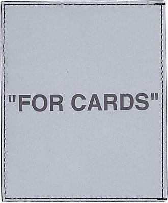 Off-white Off-white Quote card holder SILVER/BLACK U