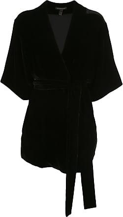 Kiki De Montparnasse Jacke mit Gürtel - Schwarz