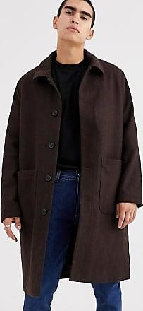 Weekday Edvard wool coat in brown