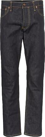 Visvim Calça jeans Social Sculpture 10 destroyed - Azul
