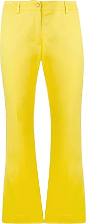 PT01 cropped bootcut trousers - Yellow