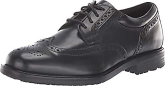 Rockport Mens Essential Details Water Proof Wing Tip Oxford,Black,11.5 XW US