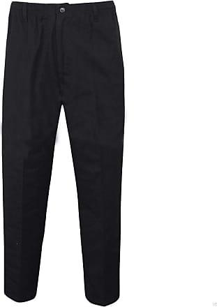 Islander Fashions Mens Rugby Trousers Adult Full Elasticated Waist Casual Wear Smart Pocket Pants Black 38 Waist/29 Inside Leg Length
