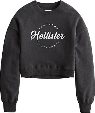 Hollister Sweatshirt dunkelgrau / weiß
