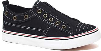Yoki Womens BENTLEY-108 Sneaker, Black, 5 UK