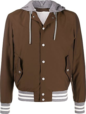 Eleventy layered hooded jacket - Brown