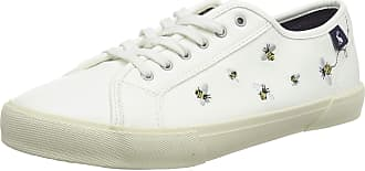 Joules Womens Coast Pump Trainers, White (White Bees White Bees), 8 (42 EU)