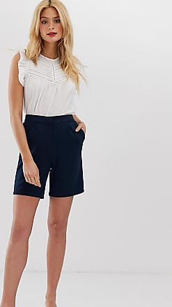 Y.A.S. Tall soft tailored shorts-Navy