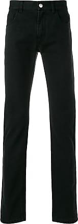 Raf Simons Calça jeans com estampa - Preto