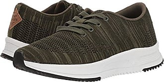 Freewaters Womens Sky Trainer Knit Sneaker, Olive, 6 Medium US
