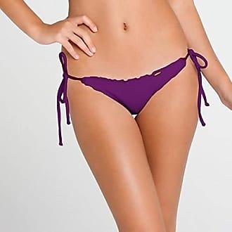 06b8aca297c Luli Fama Womens Cosita Buena Wavy Tie-Side Brazilian Bikini Bottom, Vixen  Purple,