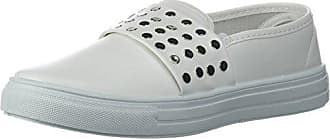 Qupid Womens REBA-167B Sneaker, White, 8 M US