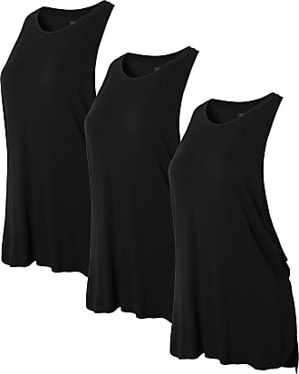 Jeansian Womens 3 Packs Sport Loose Quick Dry Tank Top Vests Sleeveless T-Shirt SWT239 PackE XL