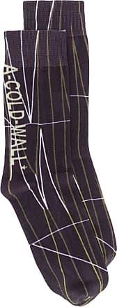 A-Cold-Wall* Par de meias jacquard - Cinza