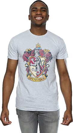 Harry Potter Mens Gryffindor Distressed Crest T-Shirt Small Sport Grey