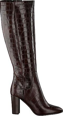 braune hohe damen stiefel mit absatz