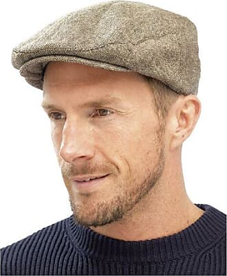 Undercover Mens Flat Caps with Wool by Tom Franks GL227 Brown Size M/L (58cm)