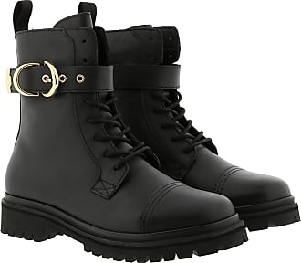 Versace Jeans Couture Boots & Booties - Tank Combat Boots Black - black - Boots & Booties for ladies