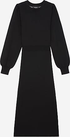 The Kooples Long knit dress with elastic waist - WOMEN