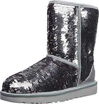 4c925125bc UGG Damenschuhe - Stiefel Classic Short Sequin - Silver, Größe:37 EU