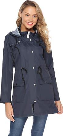 Abollria Rain Jacket Women Waterproof Hood Lightweight Active Outdoor Raincoat Windbreaker