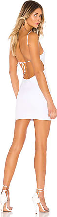 Superdown Emily Tie Back Dress in White