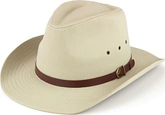 Hawkins wide brim hat with ventilation holes - beige 57