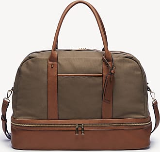 Sole Society Womens Mason Weekender Vegan Leather In Color: Olive Canvas Bag From Sole Society