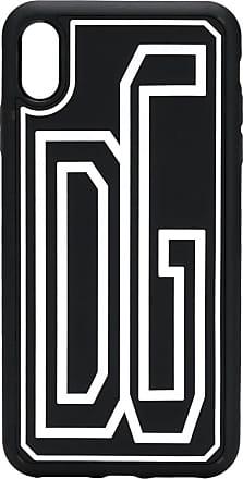 Dolce & Gabbana Capa para iPhone XS Max com logo - Preto