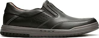 Clarks Mens Black Leather Clarks Unrhombus Twin Size 10.5