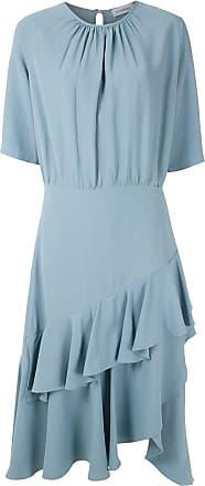 OLYMPIAH Vestido midi Luyne babados - Azul