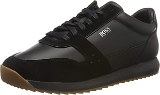 BOSS Mens Sonic_Runn_ltsd Low-Top Sneakers, Black (Black 001), 5 UK