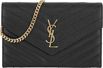 Saint Laurent Cross Body Bags - Monogramme Envelope Chain Wallet Nero - black - Cross Body Bags for ladies