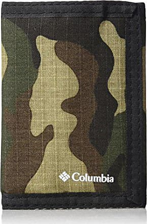Columbia Tactical Wallets for Men - Sport RFID Blocking Nylon Trifold with Velcro with ID Window and Cash Pockets,Camo,One sizee