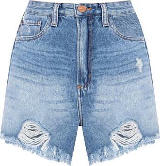 Animale SHORT FEMININO BOX ROCK PUIDOS BARRA - AZUL