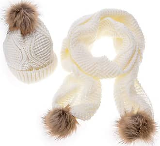 Laisla Fashion 1 Set of Fashion Ladies Warm Hat Classic and Scarf Girl Winter Autumn Hats Hat Knitted Hat Unique Fashion Retro Style Basic Clothing Accessories (Colo