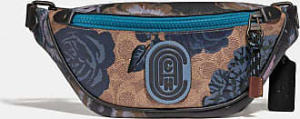 Coach Mini Rivington Belt Bag In Signature Canvas With Kaffe Fassett Print in Blue